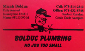 Bolduc Plumbing | Member of North Central Referral Group