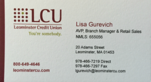 Leominster Credit Union | Member of North Central Referral Group